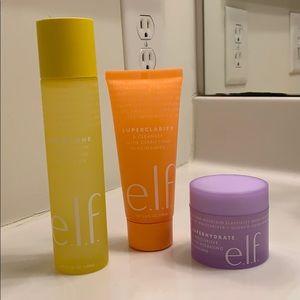 Elf toner, cleanser, and moisturizer